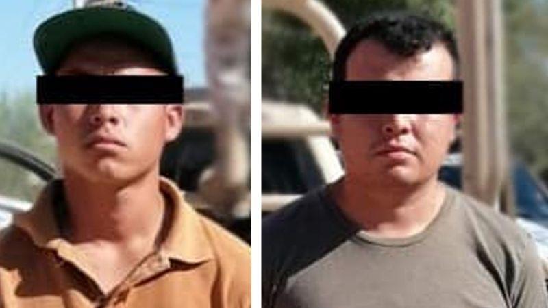 Sonora: Capturan a dos supuestos sicarios armados a bordo de auto robado en Navojoa