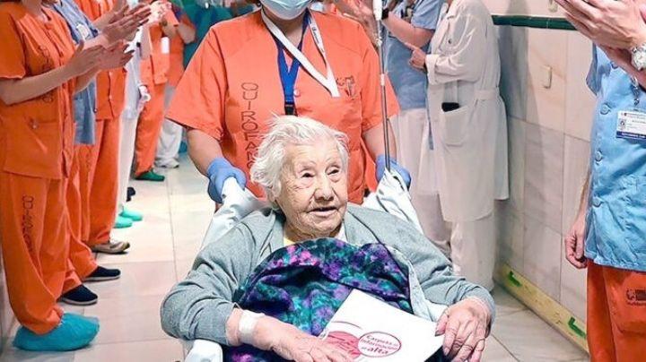 VIDEO: Ella es Carmen, la mujer de 104 años que superó al cáncer y al Covid-19, dos veces