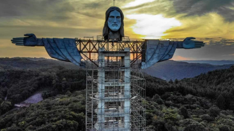 Cristo Protector: Construyen estatua de Jesucristo en Brasil ¡Medirá 43 metros!