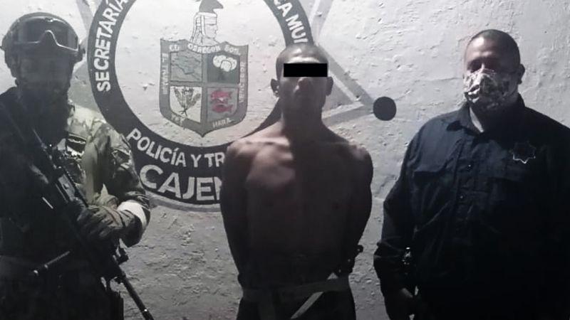Capturan a recurrente ladrón de celulares al sur de Ciudad Obregón; llevaba un arma
