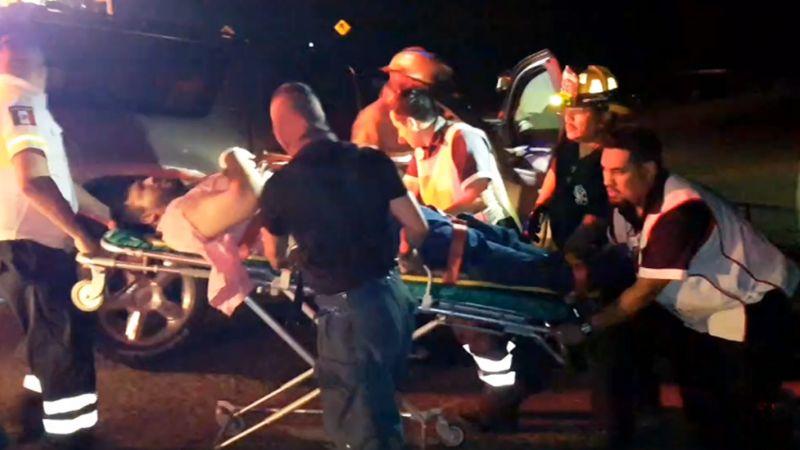 Fuerte accidente en carretera Guaymas-Hermosillo deja siete personas prensadas y lesionadas