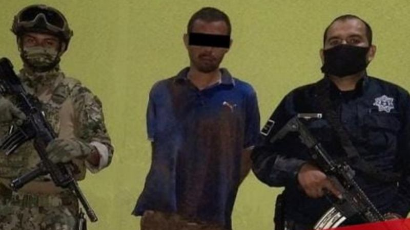 Tras perpetrar asalto, aprehenden a peligroso ladrón armado con una escopeta en Cajeme