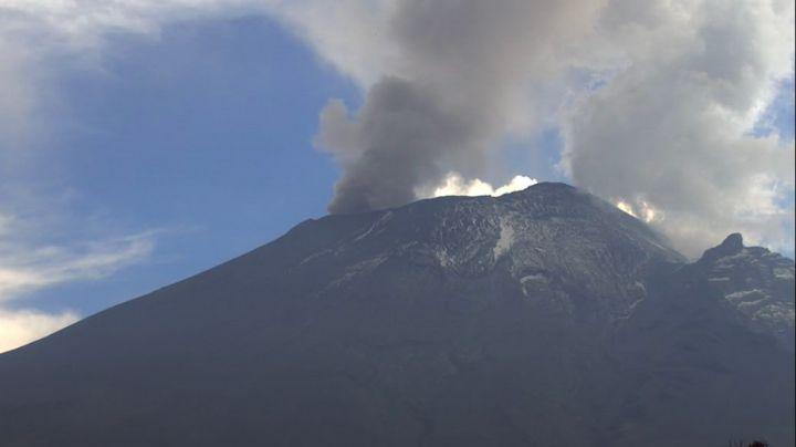 Volcán Popocatépetl intensifica actividad y acumula 119 exhalaciones este domingo 11 de abril