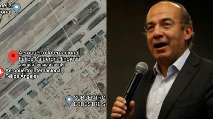 Con memes se burlan del aeropuerto 'Felipe Calderón' que aparece en Google Maps