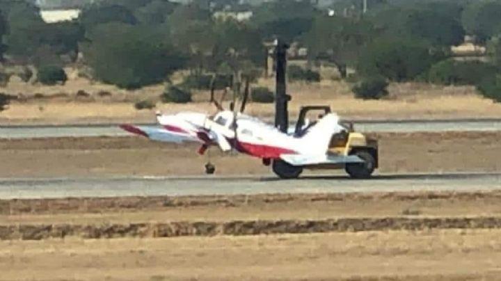 ¡Terrible accidente! Avioneta se desploma al aterrizar en el aeropuerto de Querétaro