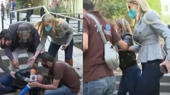 ¡Paran todo en Televisa! Integrante de 'Hoy' sufre terrible accidente; Marjorie de Sousa la auxilia