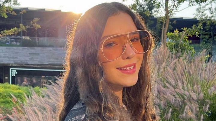 Mía Rubín, hija de Andrea Legarreta, presume toda su belleza con coqueto bañador café