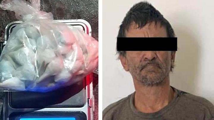 Capturan a supuesto 'tirador' en calles de Ciudad Obregón y aseguran 61 dosis de droga