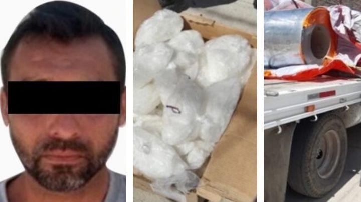Aseguran camión de carga en carretera de Sonora; llevaba millonario cargamento de droga