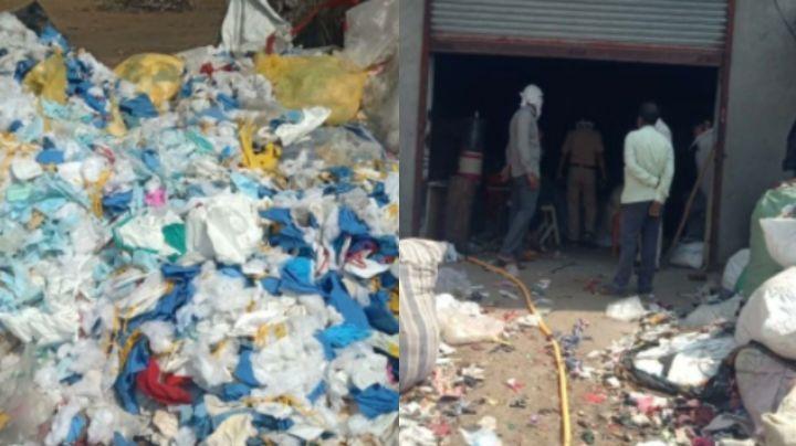 ¡Asqueroso! Clausuran fábrica que reutilizó cubrebocas viejos como relleno de colchones