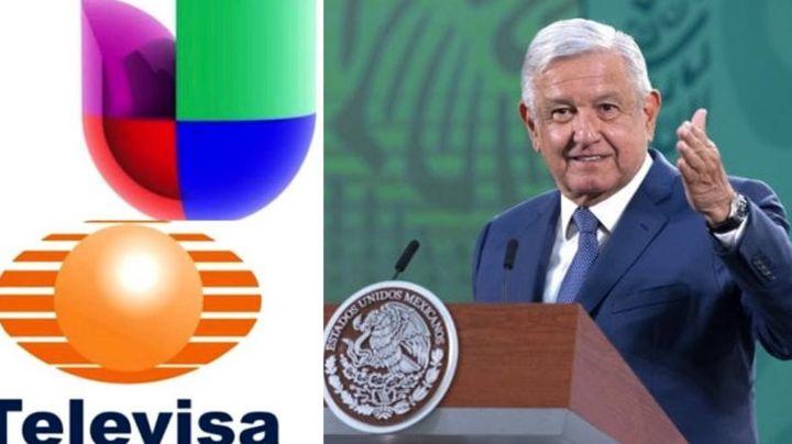 AMLO apoya a Televisa en su fusión con Univisión; les hace importante petición