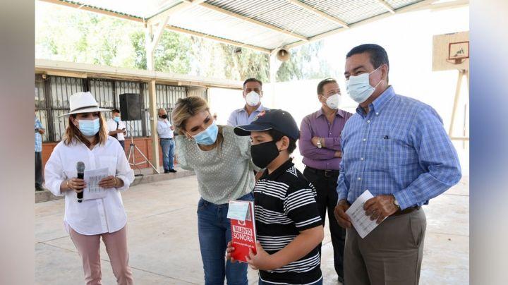 Claudia Pavlovich supervisa la entrega de apoyos a estudiantes de zonas rurales de Hermosillo