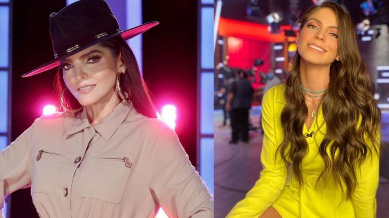 Esmeralda Ugalde enamora hasta a Ana Bárbara desde TV Azteca en vestido café