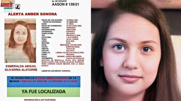 Fiscalía desactiva Alerta Amber por desaparición de Esmeralda Abigail en Sonora; la hallaron viva
