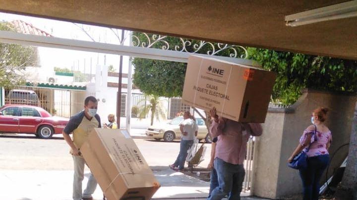Ciudad Obregón: INE recibe cargamento de material para paquetes electorales