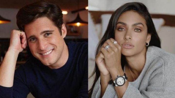 Renata Notni y Diego Boneta derrochan amor y glamour en la alfombra roja de Premios Platino