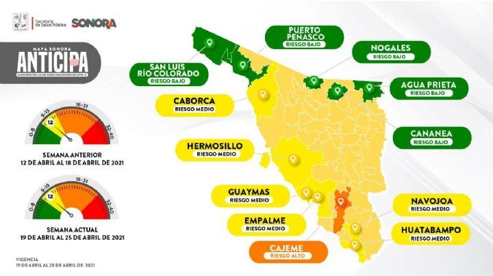 Covid-19: ¡Cajeme, en alerta! El municipio regresa a naranja en el mapa Sonora Anticipa