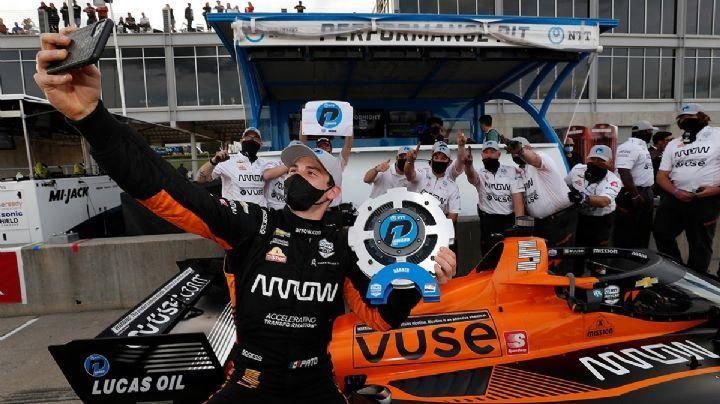 El piloto mexicano Pato O'Ward consigue la pole del GP de Alabama