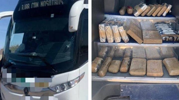 Sonora: Descubren 98 mil pastillas de fentanilo y 8 kilos de heroína en autobús de pasajeros
