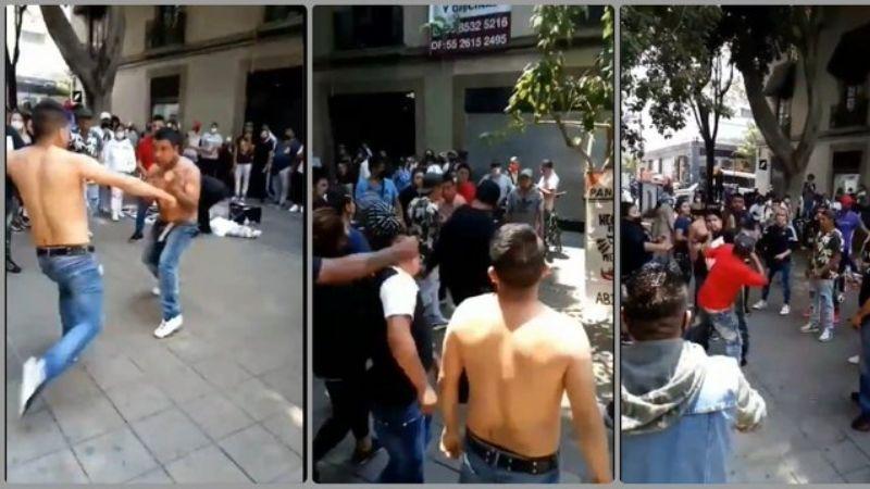 A puño limpio y sin sana distancia: VIDEO de una pelea en calles de la CDMX se hace viral