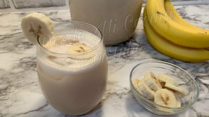Smothie de plátano con yogurt natural: Receta fácil para un desayuno rápido y delicioso