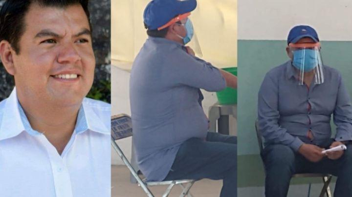 Candidato del PAN se hace pasar por 'abuelito' y se vacuna contra Covid-19; tiene menos de 40 años