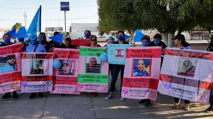 Rastreadoras de Ciudad Obregón marchan por los cientos de hombres desaparecidos en Cajeme