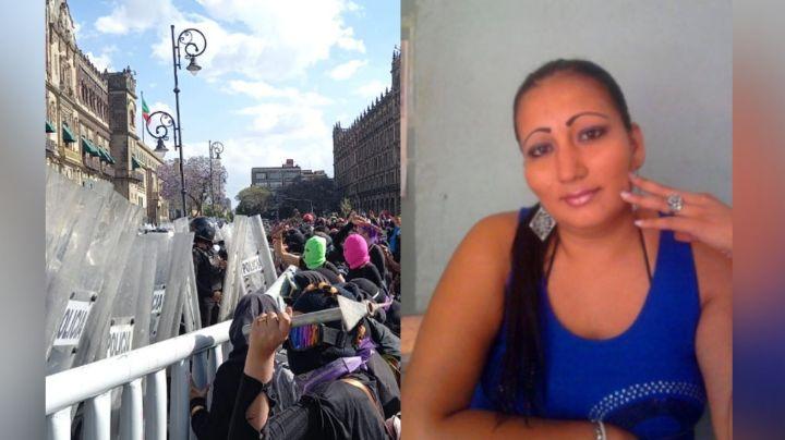 Tras muerte de Victoria Salazar en Tulum, feministas se enfrentan con policías de la CDMX en el Zócalo