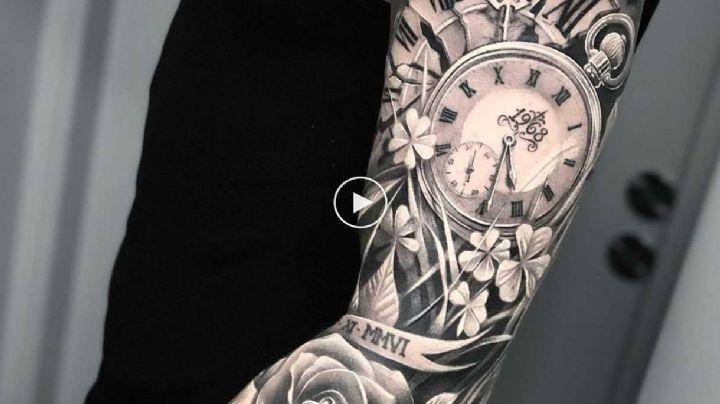 ¡Que tu piel sea tu lienzo! Elige alguno de estos tatuajes para hombre de brazo completo