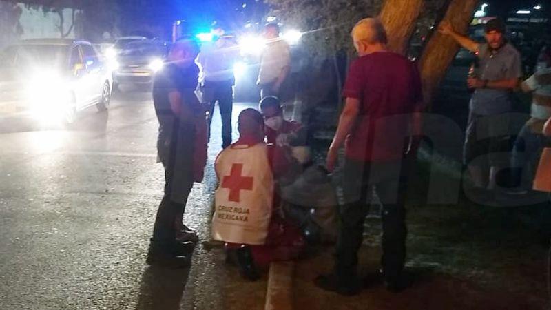 Atropella a señor y se da a la fuga al sur de Ciudad Obregón; la víctima fue hospitalizada
