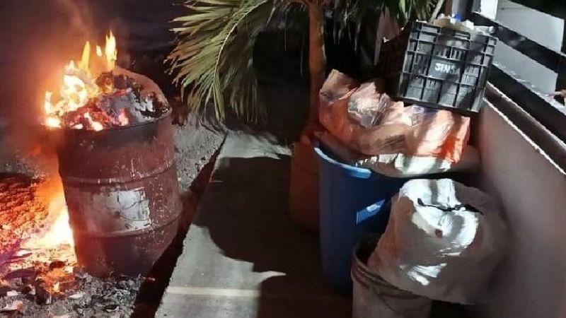 Porteños inconformes se 'alzan' y la quema de basura la hacen ley