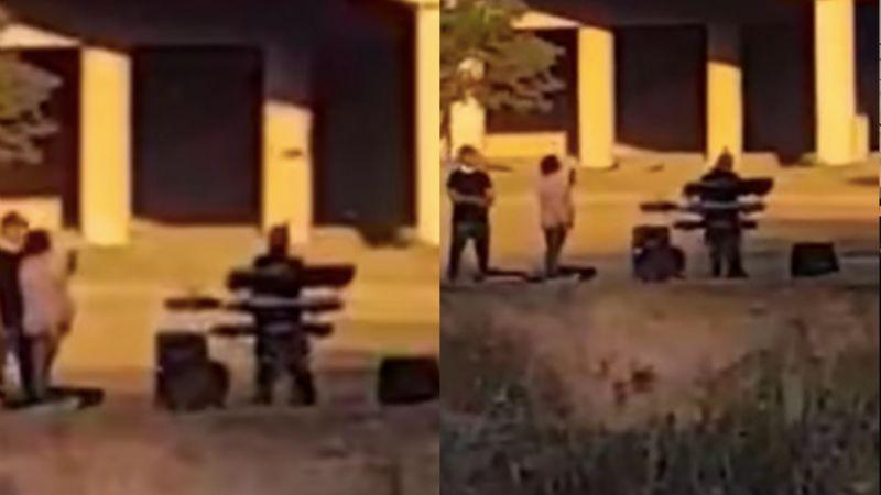 (VIDEO) No hay fronteras: 'Abuelito' lleva serenata a su nieto a quienes divide el Río Bravo