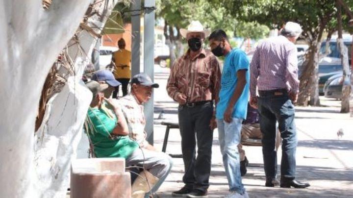 Ante falta de oportunidades, adultos mayores se reúnen en plaza de Obregón para ofrecer sus trabajos