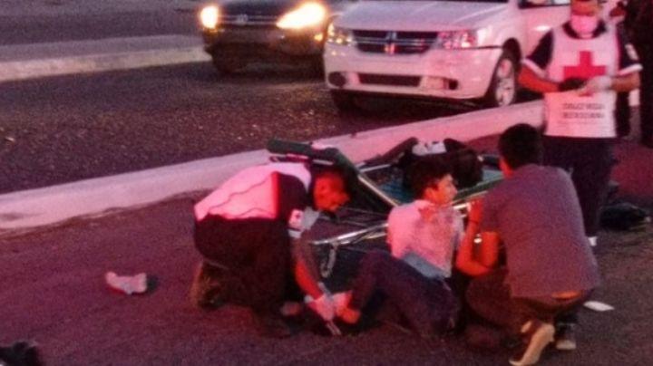 Terrible accidente en Guaymas: Joven motociclista se amputa una de sus extremidades
