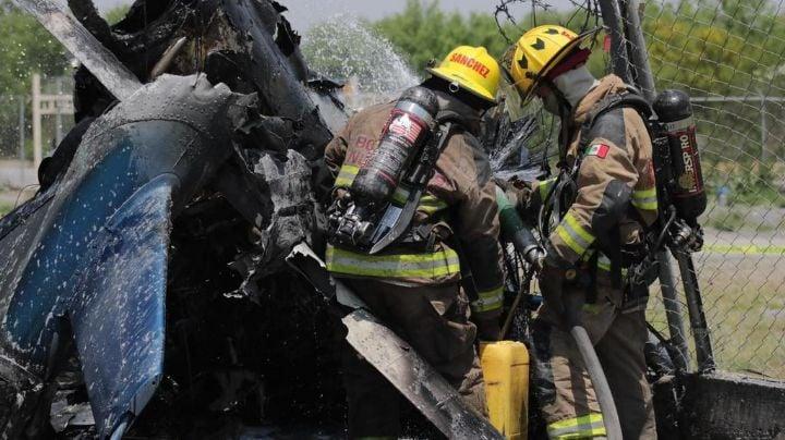 Se confirma un muerto tras el desplome de helicóptero en carretera Monterrey-Laredo