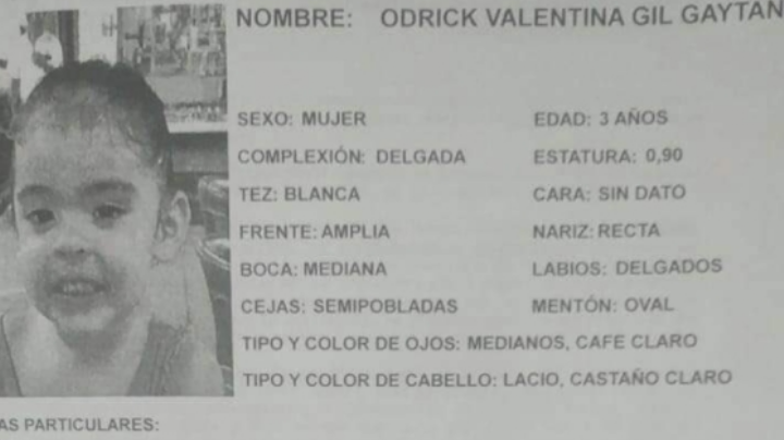 Pánico en México: Desaparece Valentina de 3 años; filtran FOTO de la mujer que la habría raptado