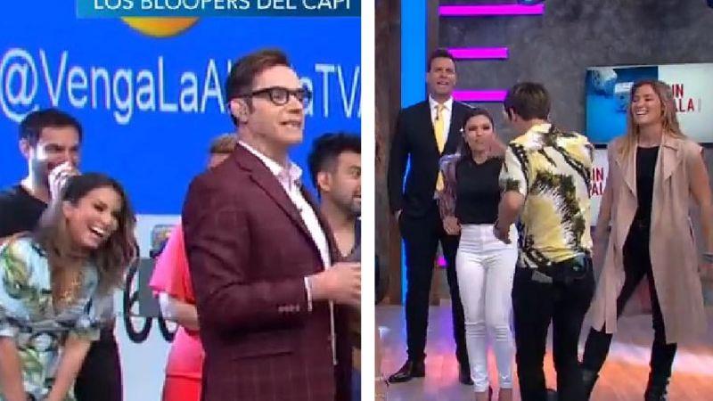 """VIDEO: Conductor de 'VLA' llama """"enano"""" a Tábata Jalil en vivo y todo TV Azteca estalla"""