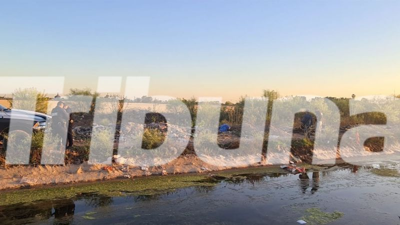 Con 2 balazos en la cabeza, hallan cadáver cerca de dren en Ciudad Obregón