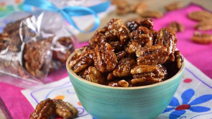 Consiéntete con este saludable 'snack' de nueces garapiñadas