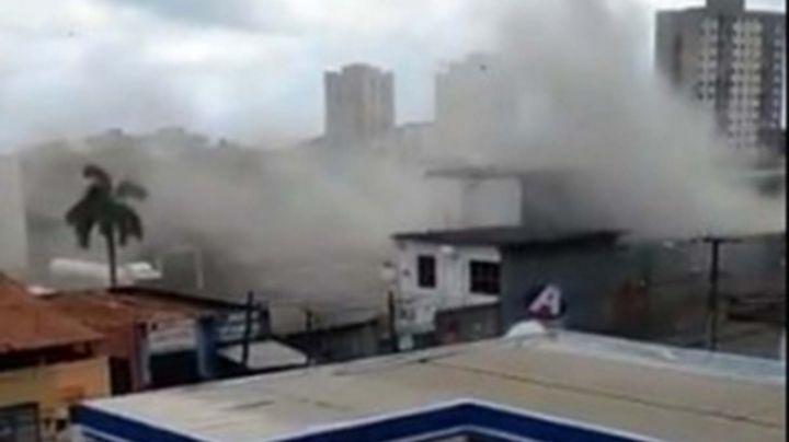 VIDEO: ¡Tragedia en Brasil! Explota planta de oxígeno; se reportan cuatro lesionados