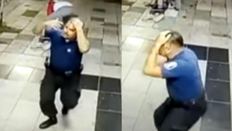 FUERTE VIDEO: Sicarios emboscan y balean en la cabeza a policía tras brutal persecución