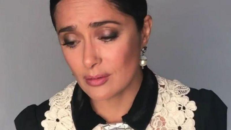"""¡Duro golpe! Covid-19 hace que Salma Hayek se vista de luto y enfrente """"profunda tristeza"""""""