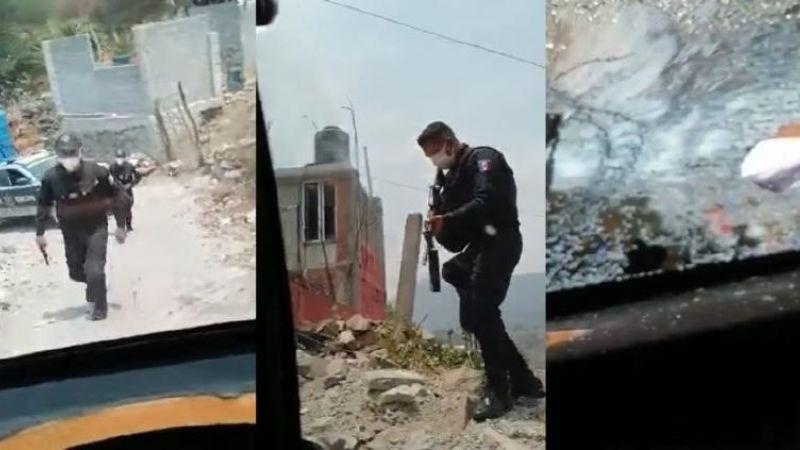 """(VIDEO) """"Nos están apuntando con armas"""": Denuncian presunto abuso policial en Ecatepec"""