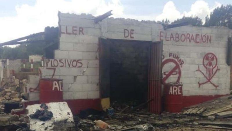 Negocio de pirotecnia explota en Guanajuato; muere una mujer calcinada
