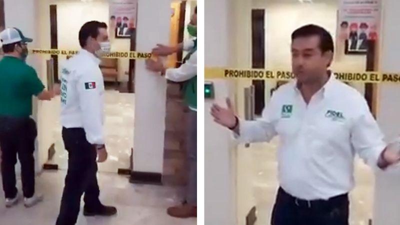 VIDEO: Fidel Covarrubias, candidato del Verde Ecologista clausura el ayuntamiento de Cajeme