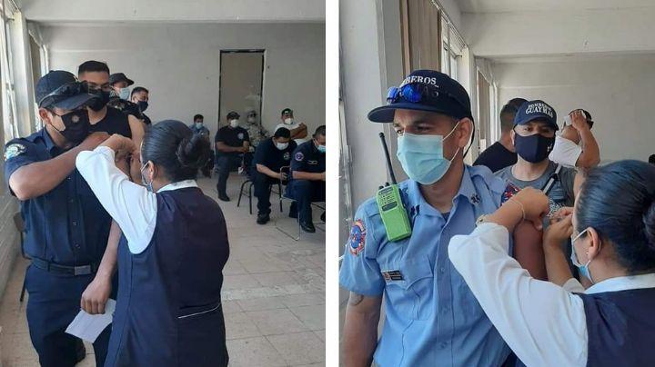 Aplican primera dosis de vacuna contra el coronavirus a Bomberos de Guaymas