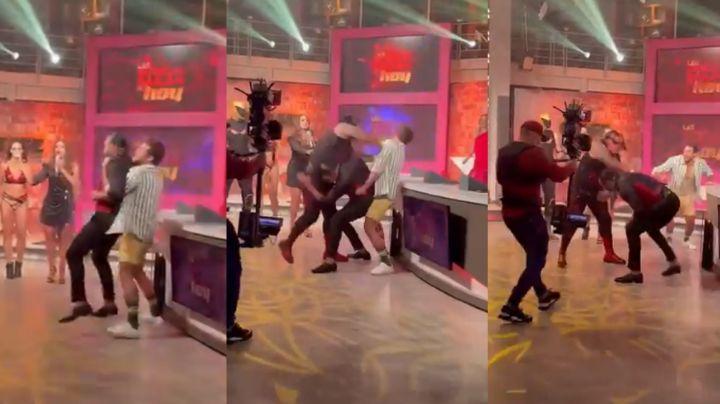 ¡Tensión en Televisa! Integrantes de 'Hoy' se agarran a golpes en vivo; Galilea Montijo estalla