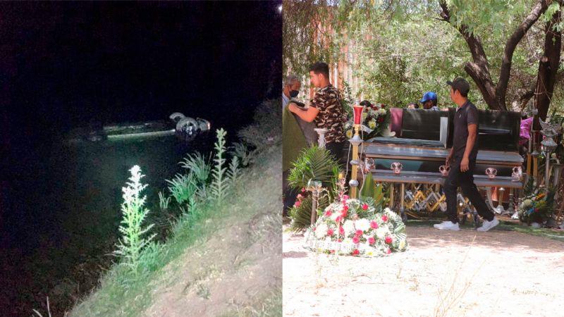 Emotivo funeral: Hugo de 10 años despide a su familia; fallecieron en trágico accidente al caer al Canal Alto en Cajeme