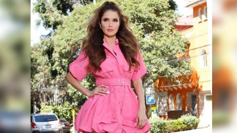 ¡Señora! Marlene Favela pone a suspirar a todo Televisa al llegar con tremendo vestido
