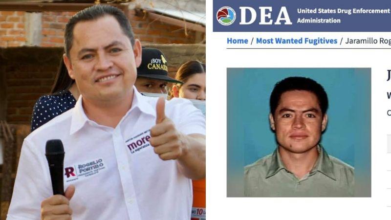 Por esta polémica razón la DEA busca a Rogelio Portillo, candidato de Morena en Michoacán